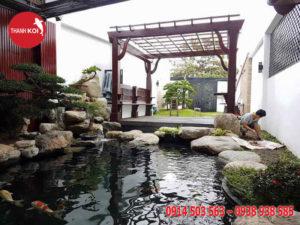 Dịch vụ thiết kế sân vườn hợp phong thủy duy nhất tại non bộ Thanh Sơn